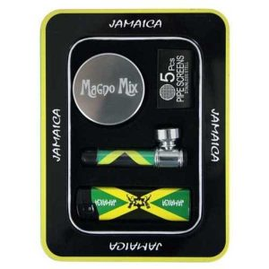 PACK REGALO JAMAICA ( GRINDER+PIPA+MECHERO)