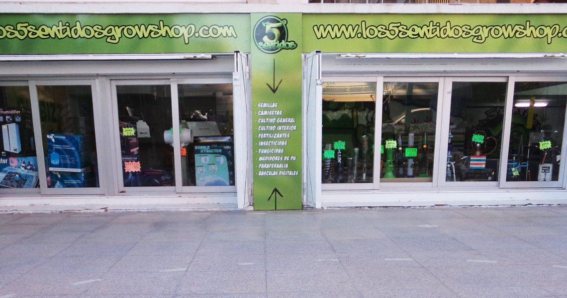 Fachada Los 5 Sentidos Grow Shop
