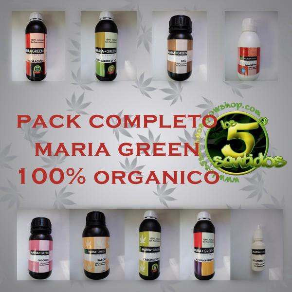 PACK ABONOS COMPLETO 100% ORGANICO MARIA GREEN