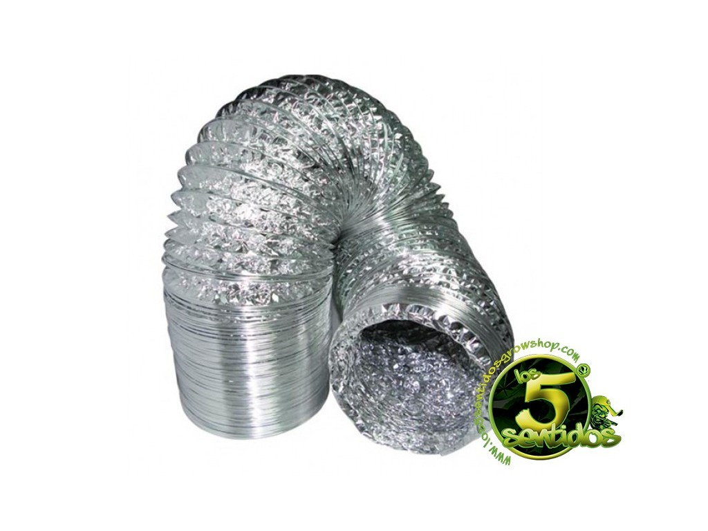 Tubo flexible de aluminio 3 metros los 5 sentidos grow shop - Tubo flexible aluminio ...